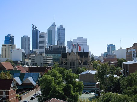 Perth City, Seen From The East, Skyline, City, Urban
