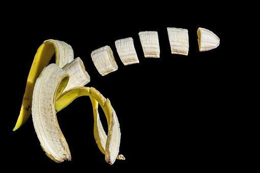 Banana, Fruit, Alimentari, Photoshop, Effect, Sliced