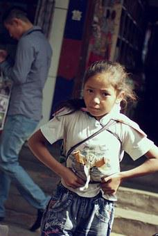 Girl, Lisu, People, Kids, Asia, Street, Sichuan Johnson