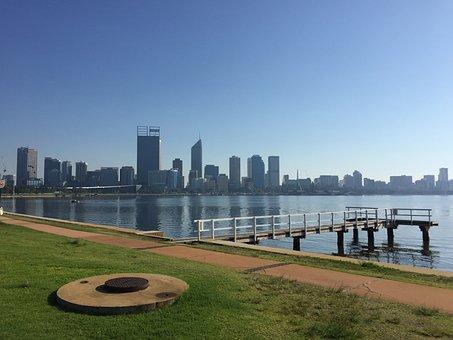 Perth, Swan, River, Australia, Western, City, Skyline