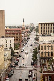 Galveston, City, Street, Texas, Church