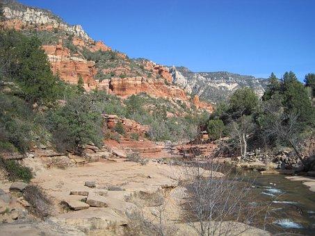 Sedona, Arizona, Slide Rock, River, Water, Creek