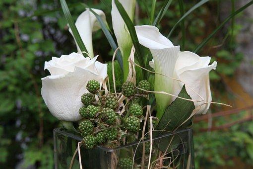 Wedding, Callas, Flower, Rose, Blossom, Bloom