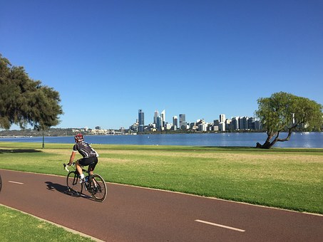 Perth, Swan, River, Australia, Western, City, Skyline