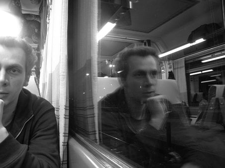Talking About, Man, Train, Window, Comment On