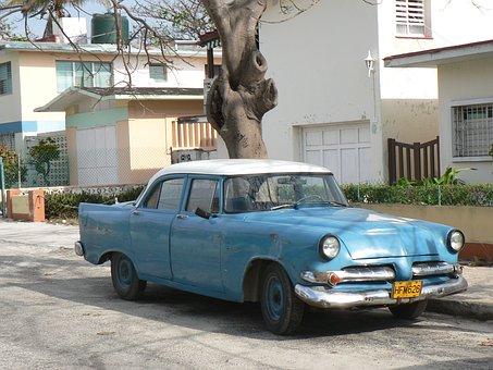 Cuba, Rattletrap, Car, Vehicle, Traffic, Wreck, Old Car
