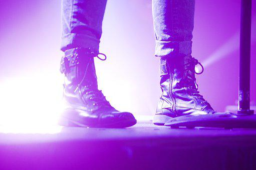 Boots, Feet, Glare, Night, Shoes, Lilac Night
