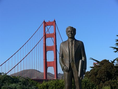 Golden Gate Bridge, San Francisco, Bronze Statue