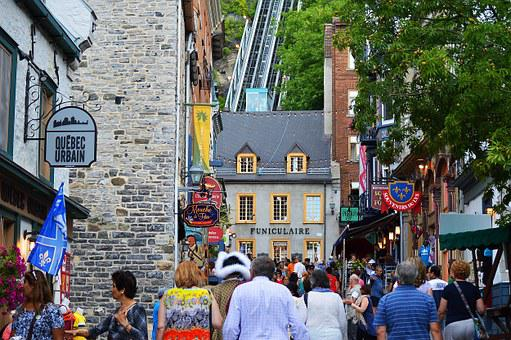 Funicular, Tourists, Quebec, Canada, Tourism, Old, Town