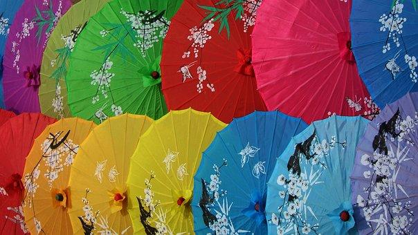 China, Memoirs Of A Geisha, Parasols, Color