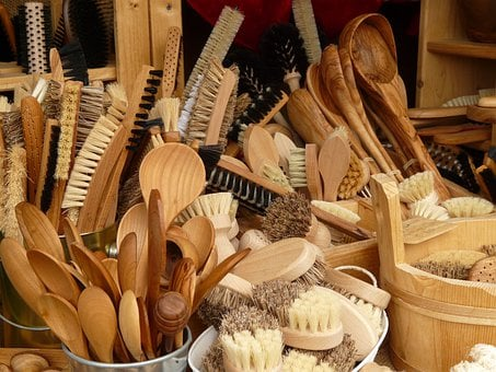 Cooking Spoon, Brushes, Articles Of Wood, Market