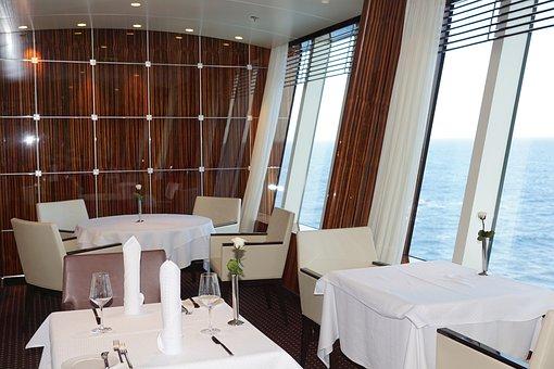 Dining Tables, Restaurant, Eat, Gastronomy, Aida, Ship