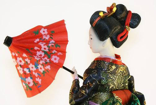 Geisha, Woman, Japanese, Doll, Female, Beautiful, Girl