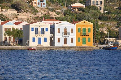 Kastelorizo, Greece, Port, Waterfront, Europe