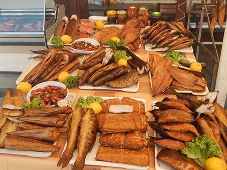 Smoked Fish, Fish Market, Market, Fish, Food, Healthy