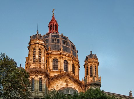 Paris, France, Saint Augustin, Landmark, Historic, Sky