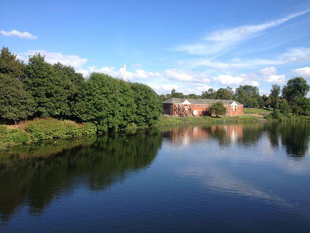 Glasgow Green, Glasgow, River, Park, Scotland, Uk
