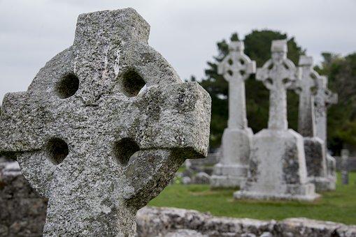 Clonmacnoise, Monastery, Religion, Grave, Celtic Cross