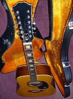 Guitar, Old, 12 String Guitar, Old Guitar, Instrument