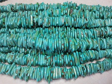 Beads, Turquoise, Necklace, Jewelry, Handmade