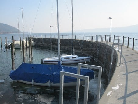 Lake, Lake Constance, Port, Boot