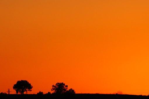 Sunset, Mexico, Tlaxcala, Orange, Against Light