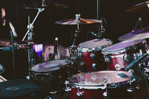 Drum Set, Drums, Musical Instruments