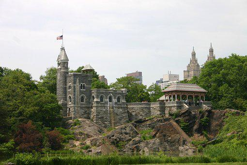 Belvedere, Castle, Central Park, Park, Nature, Green