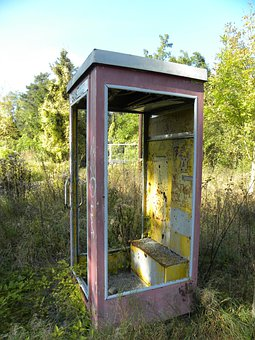 Phone Booth, Old, Abandoned, Nature, Frechen, Kerpen
