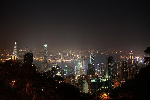 Central Hong Kong, Night View, Big City