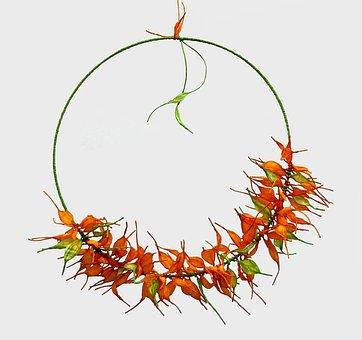 Paper Wreath, Paper Leaves, Handmade Wreath, Spring