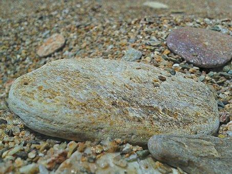 Pebble, Stones, Nature, Rock, Beach, Sand, Grovel