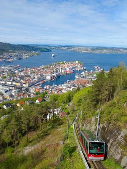 Funicular, Fjord, Norway, Port