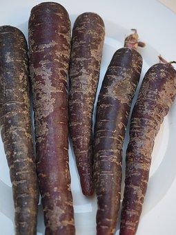 Carrots, Red Carrots, Purple, Deep Purple