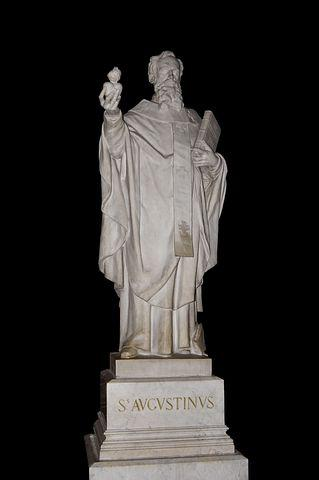 Saint Augustine, Statue, Sculpture, Church, Religion