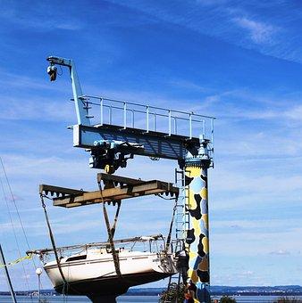 Krahn, Schiffskrahn, Sailing Boat, Downloading To
