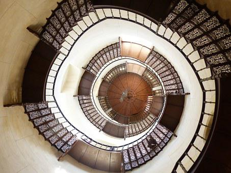 Spiral Staircase, Castle, Stairs, Staircase, Spiral