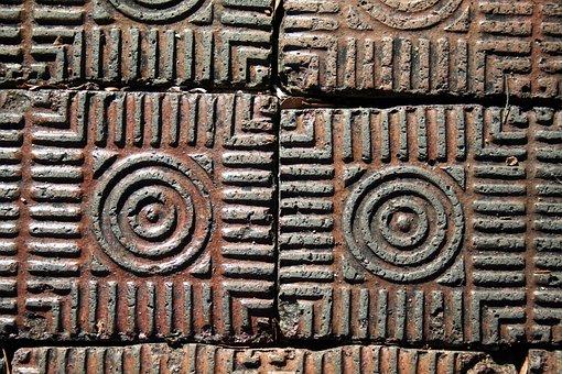 Paving Bricks, Texture, St Augustine, Circle Design