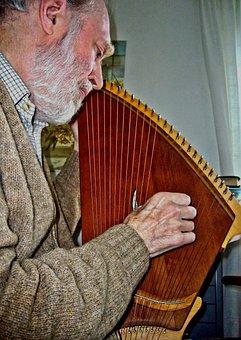 Kantele, Musician, Stringed Instrument, Music, Musical