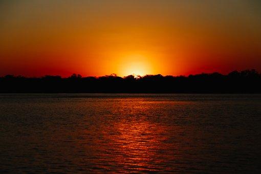 Sunset, Sol, Landscape, Against Light, Sunrise, Summer