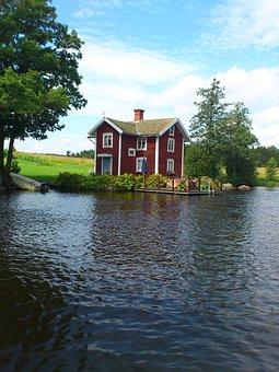Waterfront, Summer House, Summer, Stromsholm Channel