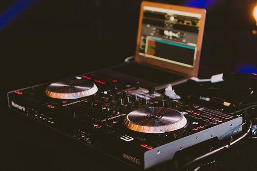 Audio, Disc Jockey, Dj Turntable, Laptop, Modern, Music