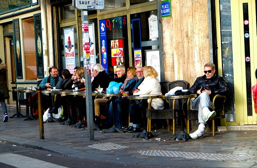 Paris, Corner, Cafe, France, French, Culture, Typical