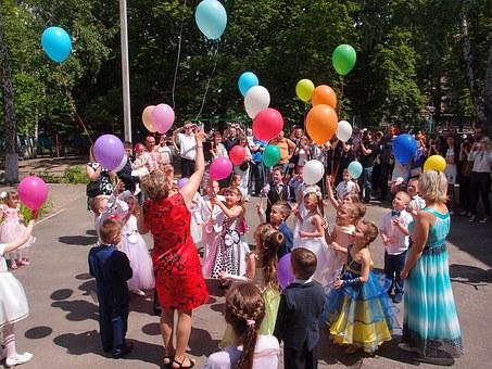 Holiday, Kindergarten, Garden, Kids, Children's Holiday