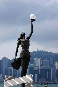 Cityscape, Hong Kong Skyline, Skyline, Chinese