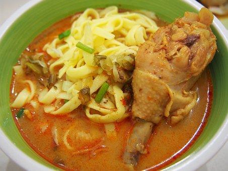 Curry, ข้าวซอย, Noodle, Food, Thai Food, Thai, Thailand