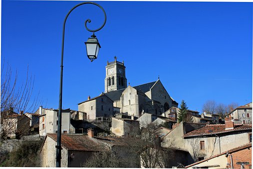 Bellac France, Hilltop Town, French Town