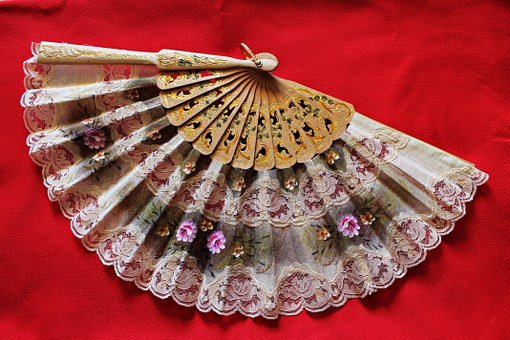 Fan, Flowers, Handmade, Beauty, Tradition, Women