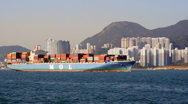 Transport, Container Ships, Hong Kong S A R
