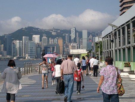 Walkway, Kowloon, Hong, Kong, Chinese
